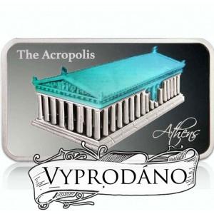 Věhlasná Akropolis zasvěcená bohyní Athéně - atraktivní mince s hologramem