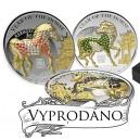 Exkluzivní sada mincí Pavé s vyobrazením koní osázených českými drahokamy