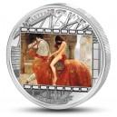 Lady Godiva od Johna Colliera - atraktivní stříbrná mince s krystaly Swarovski