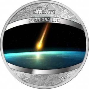 Mince kompletně zhotovená z meteoritu Muonionalusta - světový unikát - poprvé v historii