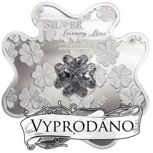 Krystal Swarovski a mince ve tvaru čtyřlístku s fascinujícím osvětlením
