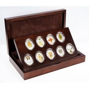 Imperiální Fabergého vejce - unikátní stříbrná sada s krystaly Swarovski (2. série)