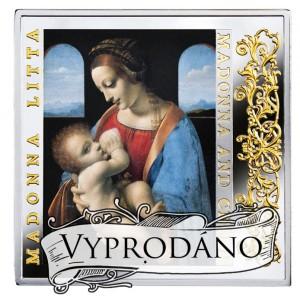 Madonna Lita - mistrovské renesanční dílo na atraktivní stříbrné minci