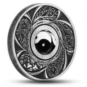Jin a Jang - exkluzivní mince s otočným středem