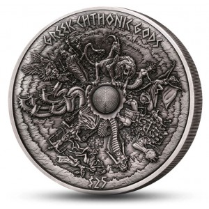 Věhlasní řečtí chtoničtí bohové - fascinující a vysoce limitovaná mince s hlubokým reliéfem
