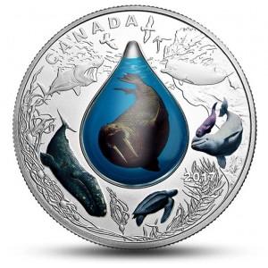 Kanadský podmořský svět s unikátní 3D kapkou - mincovní skvost