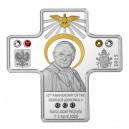 Svatý Jan Pavel II. - 10. výročí úmrtí ikony křesťanství na minci originálního tvaru