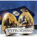 Madona ve skalách od Leonarda da Vinciho s drahokamy a zušlechtěním ryzím zlatem