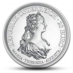 Císařovna Marie Terezie na atraktivní stříbrné minci