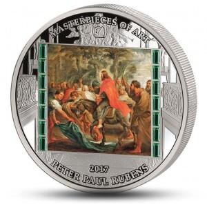 Vstup Ježíše Krista do Jeruzaléma od Petera Paula Rubense - atraktivní stříbrná mince s krystaly Swarovski