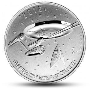 50. výročí věhlasného seriálu Star Trek -vesmírná loď Enterprise
