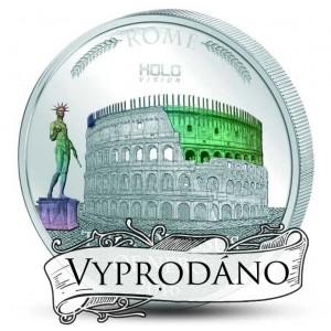 Věhlasné koloseum císaře Nera - unikátní mince s hologramem