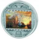 Homérova Odyssea od Williama Turnera - atraktivní stříbrná mince s krystaly Swarovski