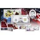 Americké stříbrné bankovky s vyobrazením nejvýznamnějších prezidentů USA (3D efekt)