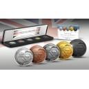 Královna Alžběta II. vládkyně Gibraltaru - jubilejní prémiová sada pěti atraktivních mincí