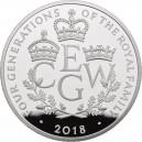Čtyři generace věhlasné Britské královské rodiny na atraktivní stříbrné minci