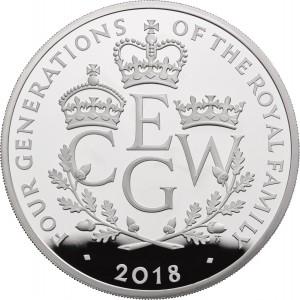 Čtyři generace věhlasné Britské královské rodiny na atraktivní 5oz stříbrné minci