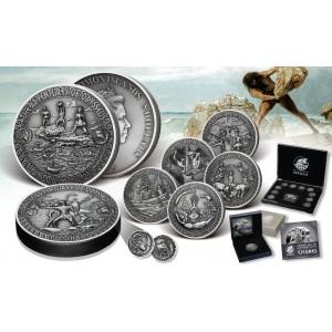Věhlasná Odyseova dobrodružství na  atraktivních stříbrných mincích s vysokým reliéfem