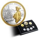 240. výročí Kapitána Jamese Cooka v Nootka Sound - atraktivní stříbrná sada mincí
