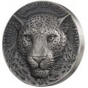 Levhart africký- exkluzivní stříbrná mince s fascinujícím vysokým reliéfem