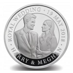 Královská svatba prince Herryho a Megahn Markle na atraktivní stříbrné minci