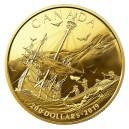 První Evropané v Kanadě na exkluzivní a limitované zlaté minci