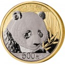 Panda Velká na limitované (250) zlaté minci zušlechtěné platinou a černým palladiem