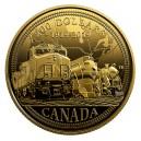 100. výročí Kanadské národní železnice na exkluzivní a limitované zlaté minci