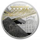 Věhlasné muzeum Louvre v Paříži - zušlechtění ryzím zlatem a černým rhodiem (50 eur)