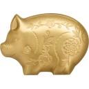 Rok prasete - jedinečné vyobrazení čínského zvěrokruhu na stříbrné minci zušlechtěné ryzím zlatem