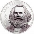 Karel Marx - jeden z největších revolucionářů světa na atraktivní stříbrné minci