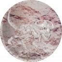 Prehistorické zvíře Protoceratops na atraktivní stříbrné minci