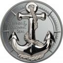 Legendární kotva kapitána Jamese Cooka na atraktivní stříbrné minci s vysokým reliéfem