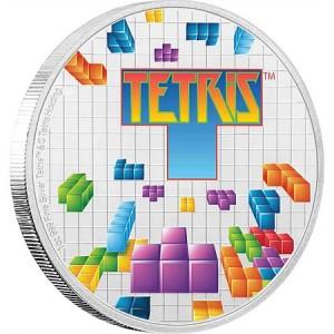 35. výročí legendární počítačové hry Tetris na originální minci