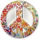 Legendární symbol míru a dětí květin (Hippies) na atraktivní kolorované minci