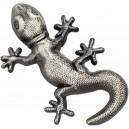 Gekon na atraktivní stříbrné minci s vysokým reliéfem