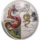 Legendární mýtičtí draci na atraktivní stříbrné minci v exkluzivním balení