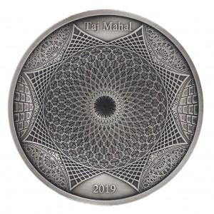 Věhlasný Tádž Mahal na exkluzivní stříbrné minci s hlubokým reliéfem
