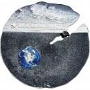 Atraktivní kolorovaná stříbro-titanová mince s vzácným meteoritem Estacado