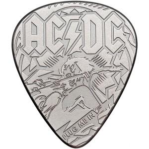 Trsátko AC/DC - originální stříbrná mince