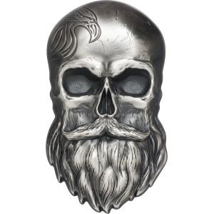 Motorkářská lebka - atraktivní a originální stříbrná mince