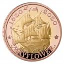 400. výročí plavby věhlasné plachetnice Mayflower na exkluzivní zlaté minci