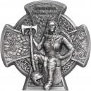 Legendární královna Boudica která se postavila římským legiím na exkluzivní stříbrné minci s vysokým reliéfem