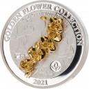 Orchidej (3D) symbol lásky a krásy - umělecký mincovní skvost